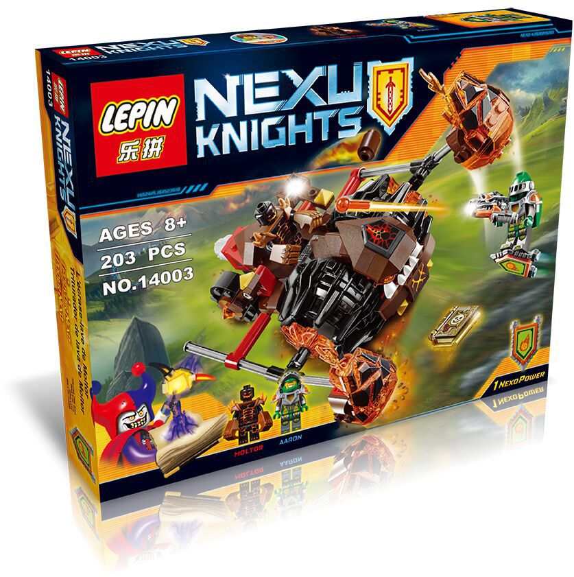 Nexo Knights Super heroes Moltor`s Lava Smasher Building Moltor Aaron Minifigure Bricks Weapon LP 14003 - China's Dream store