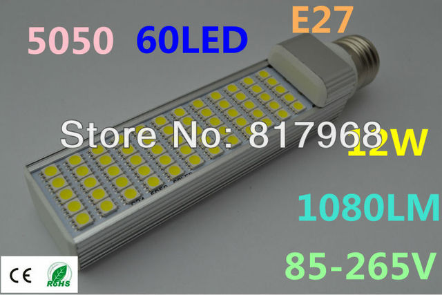 LED Bulb 220v 12W 5050 SMD 60 LED E27 Corn Light Lamp lights for home Cool White/Warm White 85V-265V Side lighting certification