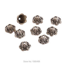 20Pcs Antique Tibetan Silver Flowers pattern Beads for Jewelry making