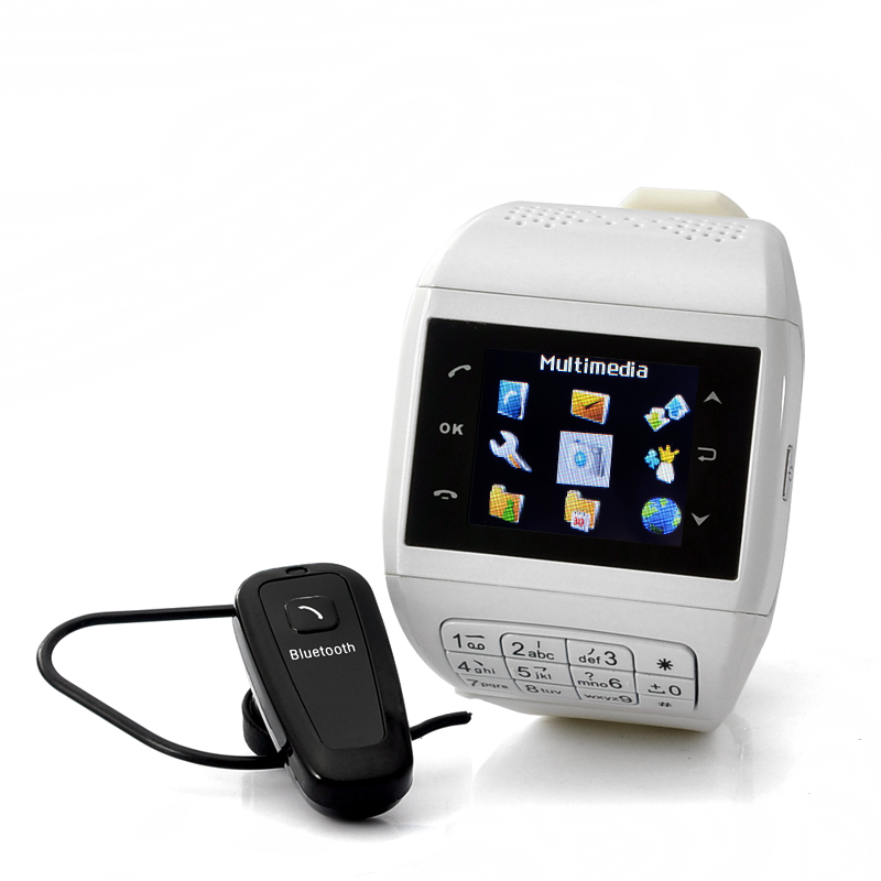 """Mobile Phone Watch with Keypad """"Quartz"""" - Dual SIM, Touch Screen, Bluetooth Headset, 4GB micro SD card(China (Mainland))"""