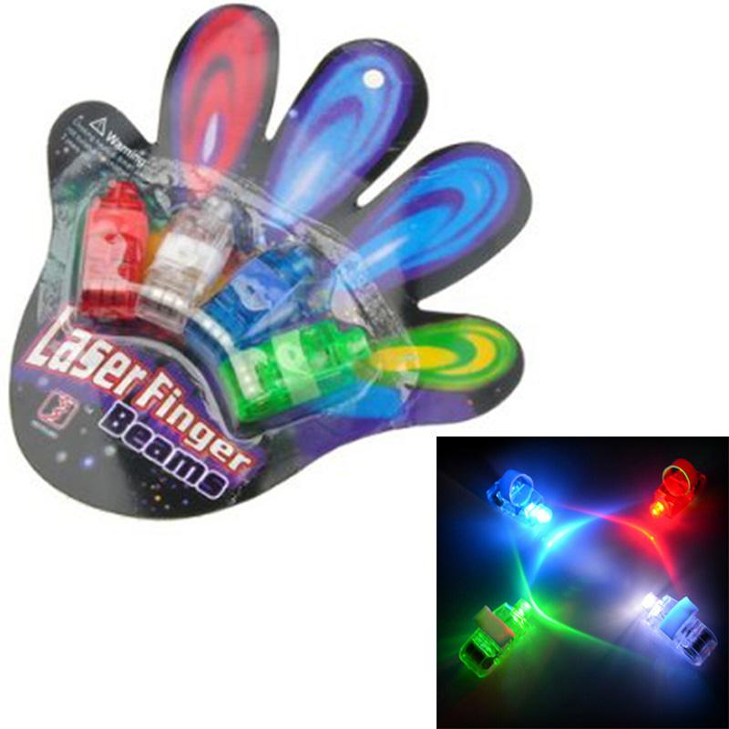 4pcs Generic Bling Colorful LED Finger Lamps Super Bright Finger Flashlights Rave Finger Lights LED flashlight For Party Decor(China (Mainland))