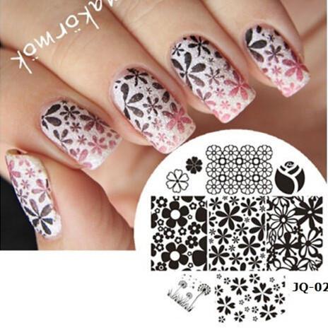 1 Piece Nail Art Polish DIY Stamping Plates Image Templates Nail Stamp Stencil Beauty Decorations Manicure Tools (JQ-02L)(China (Mainland))