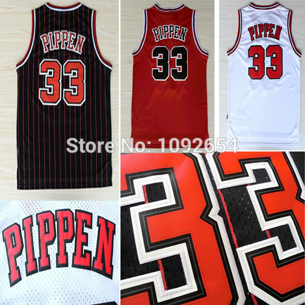 In Fast Free Shipping Cheap!!! Chicago #33 Scottie Pippen Basketball Jersey, Top Quality Embroidery Logos Retro Basketball Jerse(China (Mainland))