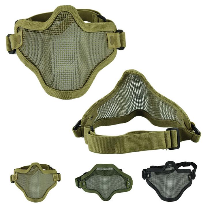 Гаджет  Hot sale Free Shipping New Arrival Iron Face Airsoft Mask Metal Wire Mesh Lower Half Mask  None Безопасность и защита