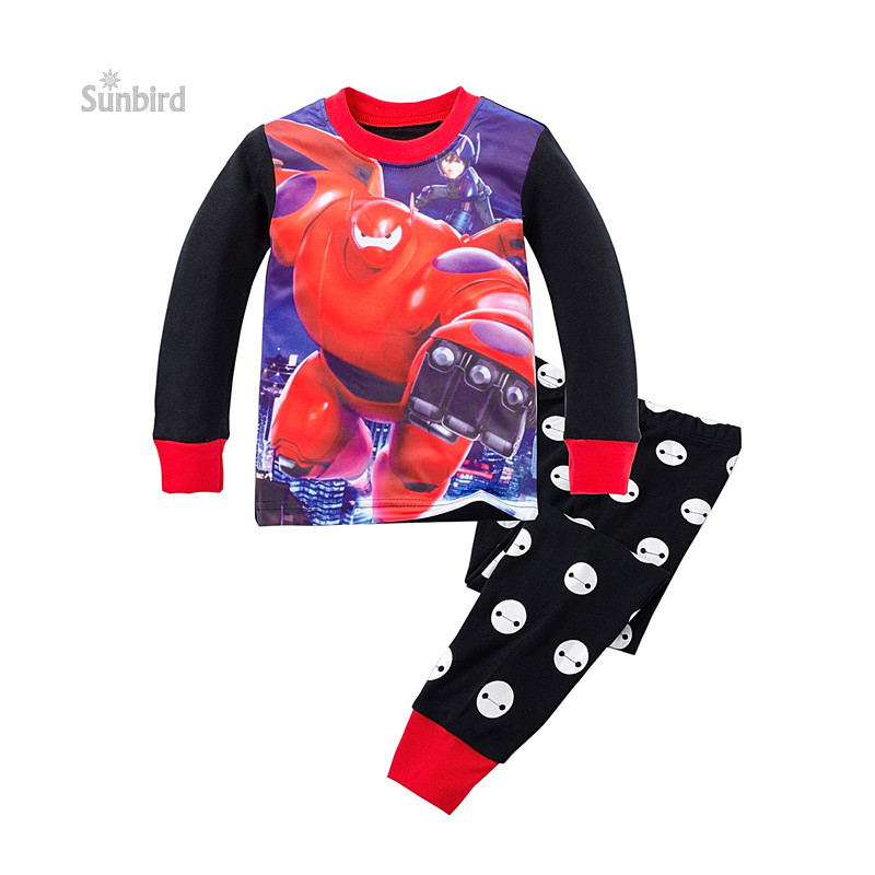 P714, robot, 6sets/lot Children boys pajamas, 100% cotton, long sleeve sleepwear/clothing sets for 2-7Y<br><br>Aliexpress