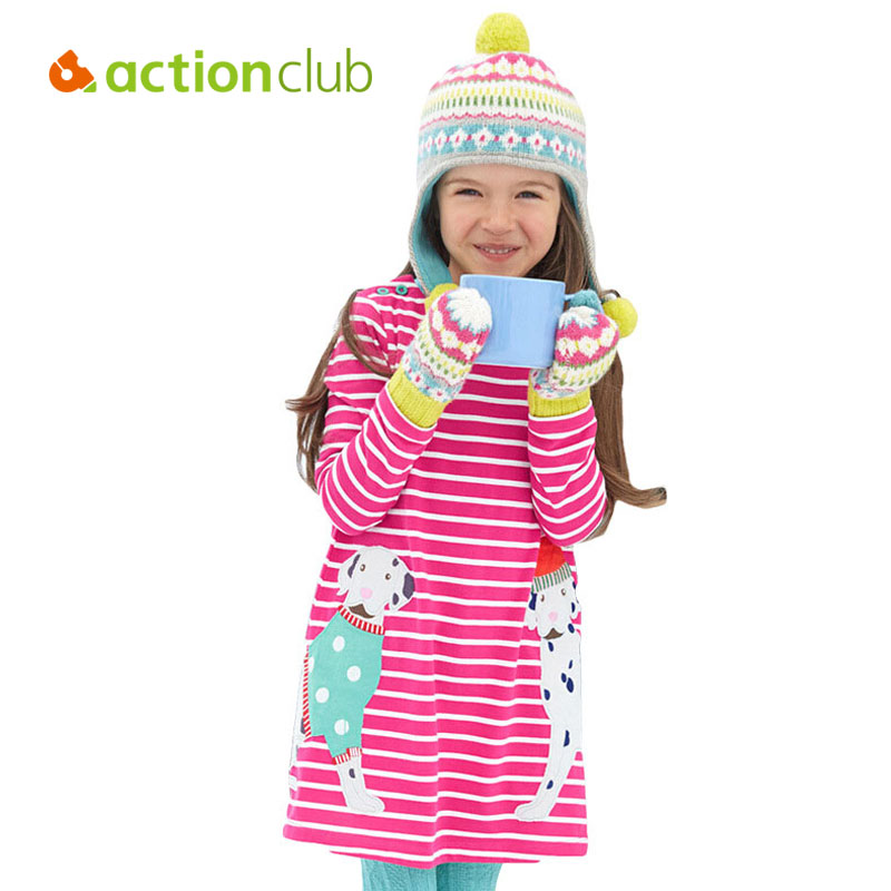 Actionclub Spring Summer Baby Girls Dress Rabbit Flower Print Dresses For Girls Princess Party Dress 4 Styles Children Clothing(China (Mainland))