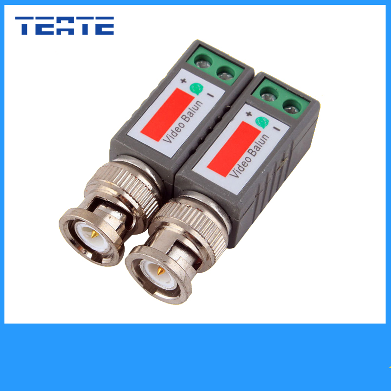 TEATE CCTV Passive BNC Video Balun to UTP Transceiver Connector with 2X Coax CAT5 for Security Camera System TET-G07CAB(China (Mainland))