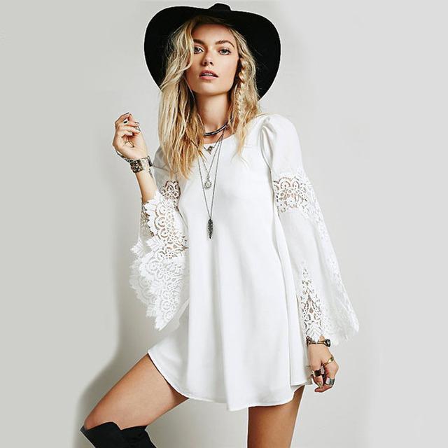 Brilliant Women Casual Loose Long Dress Party Vestidos Femininos 2016 Dresses
