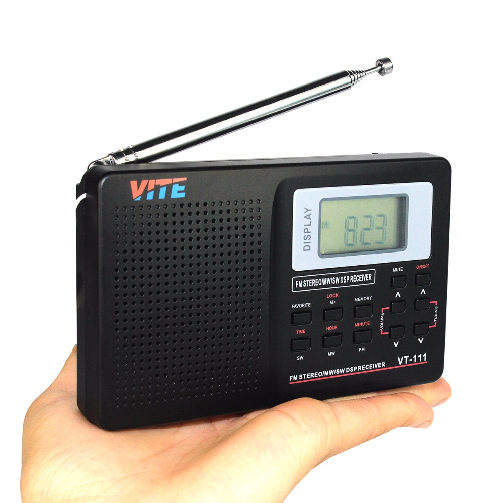 1 pc Portable Full Band FM Stereo / MW /SW DSP Radio TV Sound World Band Receiver with Timing Alarm Clock F9201A(China (Mainland))