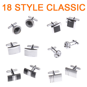 2015 Fashion Classic 18 style Men cufflinks Can be mixed ties high quality