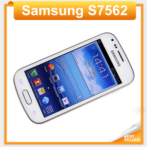 Original Samsung Galaxy S duos S7562 Unlocked Dual sim cards phone 3G Wifi Bluetooth Gps 4.0'' Touch 5MP Camera Refurbished(China (Mainland))