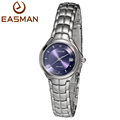 EASMAN Watch Women Brand Water Resistant Watches Purple Blue Steel Round New Style Sapphire Date Wristwatches