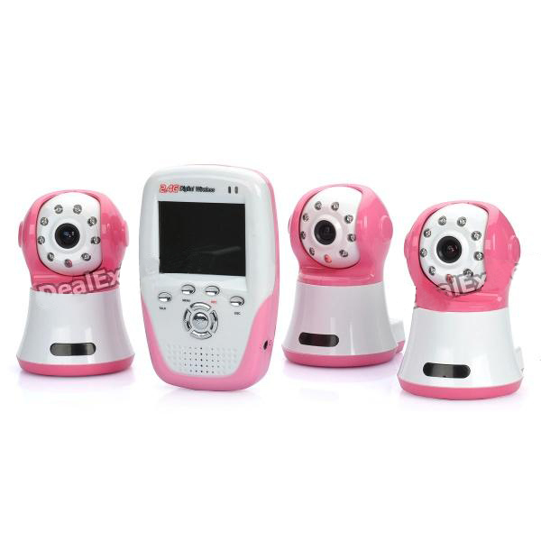 "2.4Ghz Wireless Digital Baby Monitors IR Video Talk Baby Video Camera Night Vision 2.5"" LCD Baby Monitor Bab Eletronica 3pcs Cam"