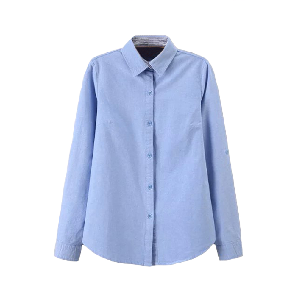 Buy new fashion women blouses striped for Button down t shirts