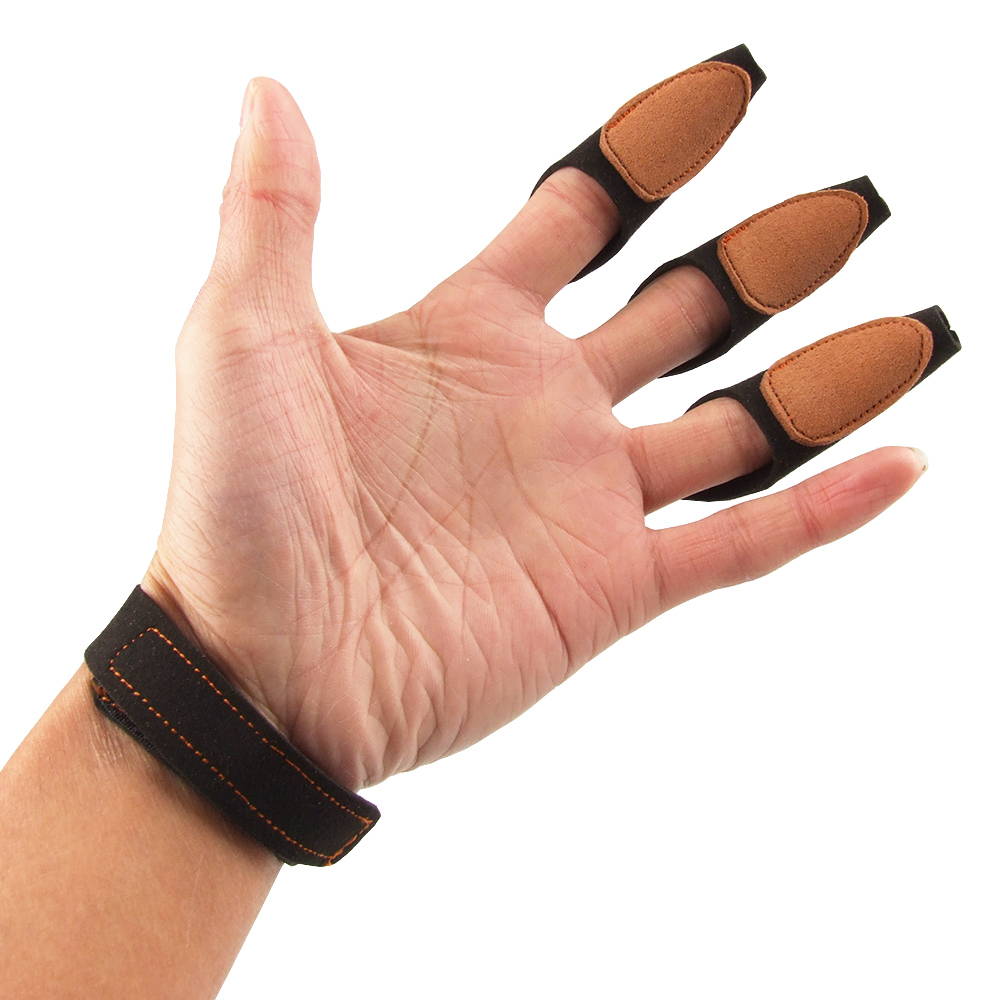 New Style 3 Finger Archery Protect Glove Black Shooting Glove 3Finger Design for Hunting Traditional/Recurve Bow Free Shipping(China (Mainland))