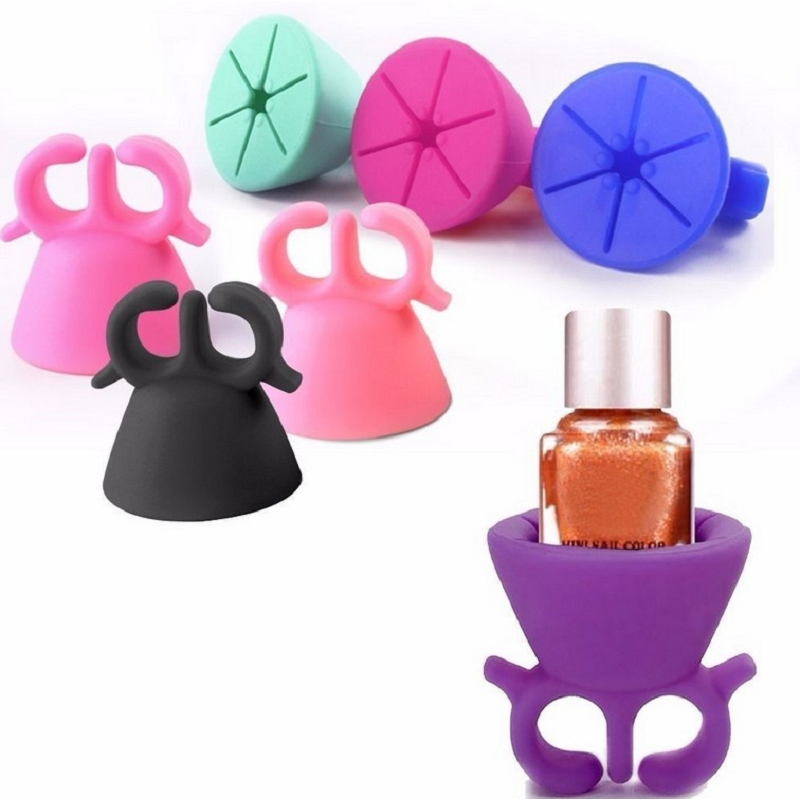 1Pcs Hot Nail Polish Stand Nail Polish Bottle Holder Flexible Wearable Tips Polish Varnish Bottle Display Nail Gel Holder #84469(China (Mainland))