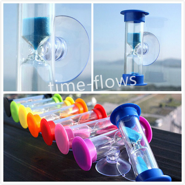 3 Minute Sand Timer Hourglass With Sucker Mount,Tooth Brushing,Child Toy Gift(China (Mainland))