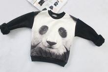 mini rodini 2015 winter 3d tiger panda pattern kids sweatshirt children clothing sets sweater kikikids(China (Mainland))