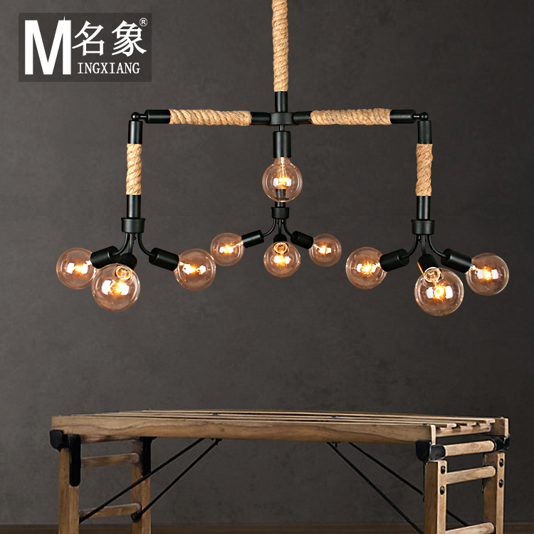 simple personality industrial crystal chandelier chandelier European style living room bedroom dining room art lamps(China (Mainland))