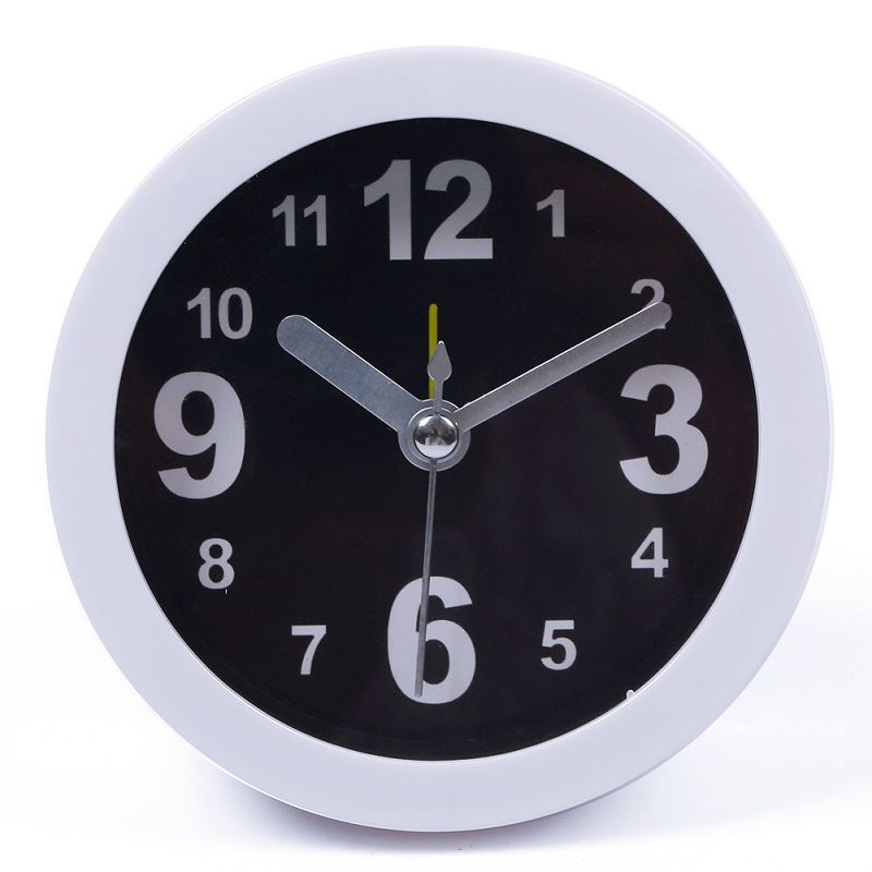 Cute Family Portable Clocks Vogue Round Small Table Desk Alarm Solid Color Simple Clock#66581(China (Mainland))