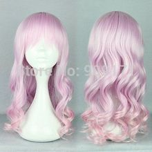 Girls Lolita Harajuku 55cm Long Mix COLORED curly wave Cosplay wig (B0324)