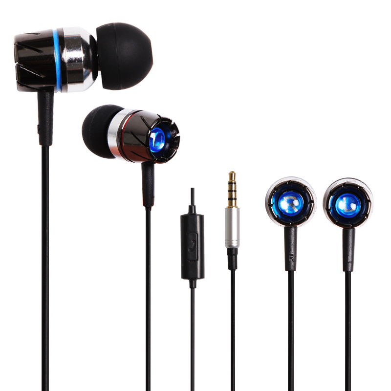 High quality! Metal Heavy bass headphone music headset ear phones with mic for xiaomi iphone 5S6 samsung MP3 MP4 in-ear earphone(China (Mainland))
