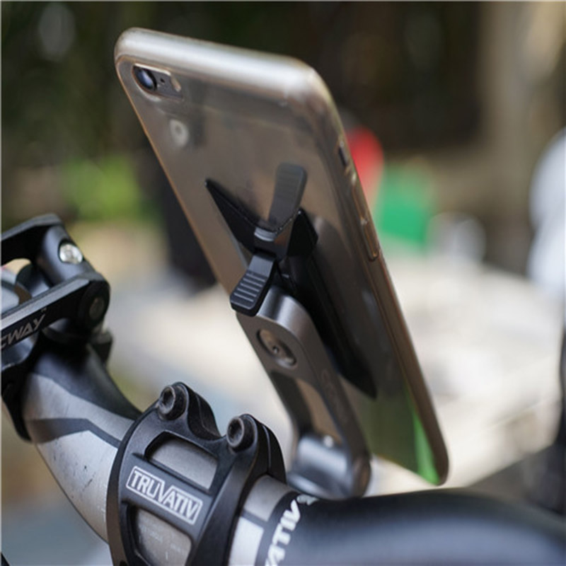 1set CNC Alloy Cycway of Cycling Stem Phone Mount Ride