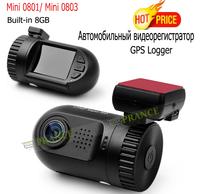Original E-prance Mini 0801 Ambarella A2 1080P Car DVR Camera GPS Logger Built-in 8GB Dash Cam Recorder