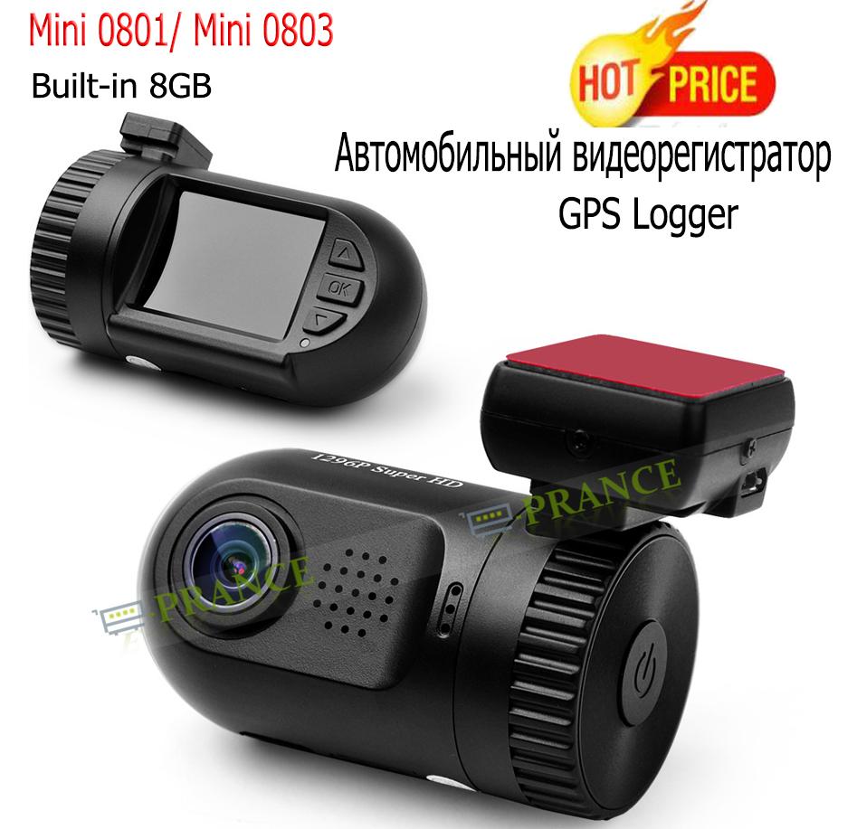 Original E-prance Mini 0801 Ambarella A2 1080P Car DVR Camera GPS Logger Built-in 8GB Dash Cam Recorder(China (Mainland))