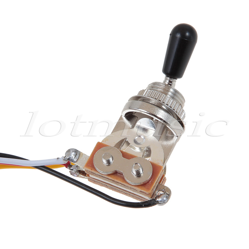 one set of electric guitar wiring harness 3 way 2v1t 500k open toggle switch with mounting nut and switch tip and cap Four-Way Switch Wiring Diagram