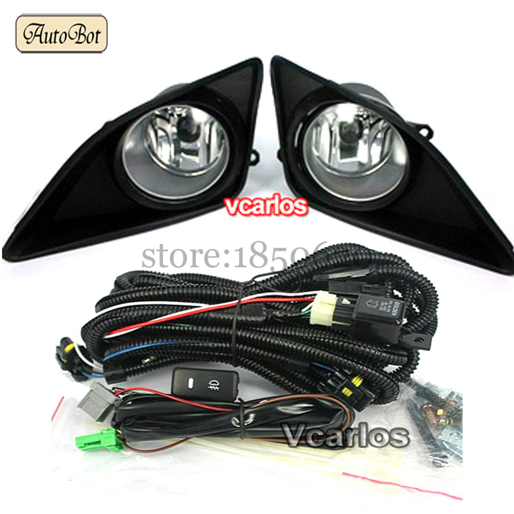 Free Shipping Auto Fog Lights lamp TOYOTA COROLLA ALTIS 2008 + COROLLA 2009 (U.S.TYPE) Clear Lens PAIR SET fog light set<br><br>Aliexpress