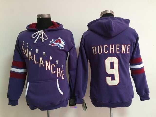 Authentic Womens Colorado Avalanche Hoodie Jerseys #9 Matt Duchene Purple Ice Hockey Hoodie,Size S-XL,Accept Mix Order