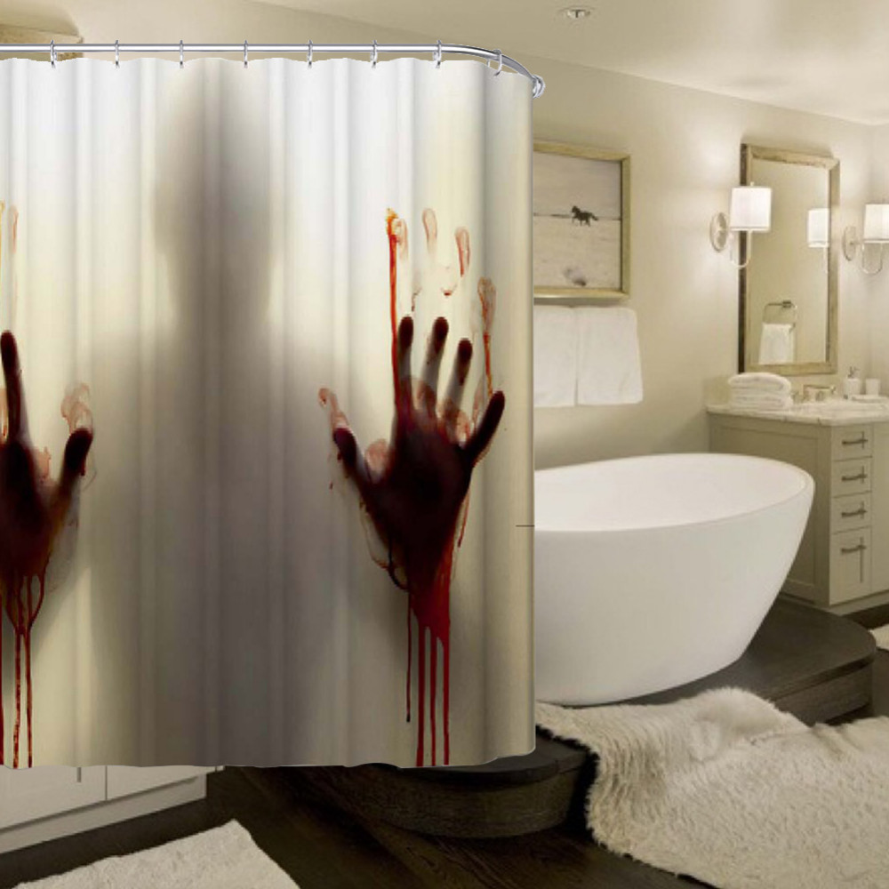 2018 Wholesale Bloody Bathroom Waterproof Polyester Shower Curtain ...