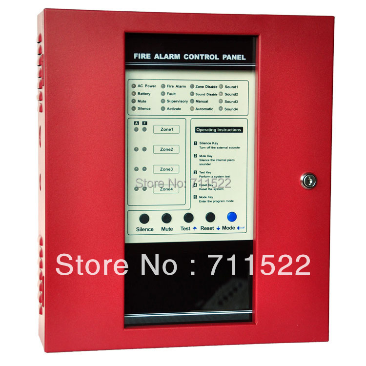 NEW Conventional Fire Alarm Control System Conventional Fire Alarm Control Panel 4 zones panel