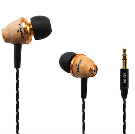 Гаджет  Awei Q5 Wooden Earphone 3.5mm Fashion Nice Gift  Headphones for MP3 MP4 Mobile Phone None Бытовая электроника