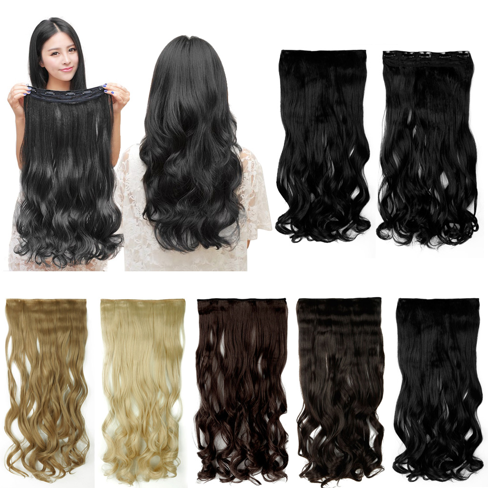 "17""-27"" 43-68cm Half Full Head 100% Real Natural Hair Extention 3/4 Full Head Clip in on Hair Extensions Curly Style Hairpieces(China (Mainland))"