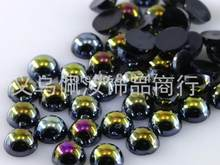 Free Shipping Many Colors 4mm 1000Pcs Craft ABS Imitation Pearls Half Round Flatback Pearls Resin Scrapbook Beads Decorate Diy(China)