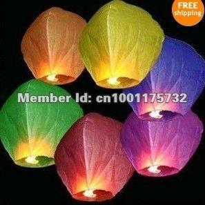 20pcs/Lot Sky Lanterns, KongMing Lanterns,Chinese Lanterns for wedding Oval Shape 8 Colors