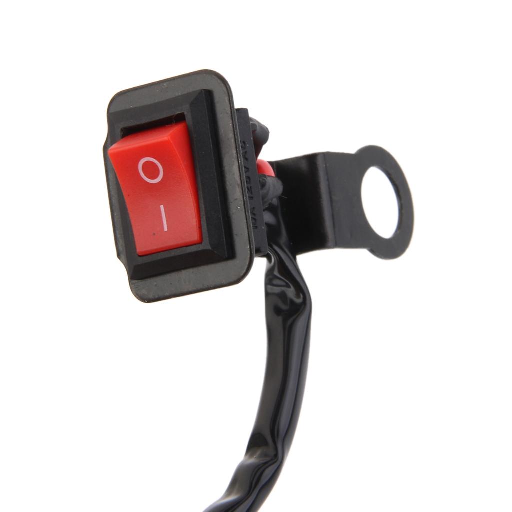 Motorcycle Bike Handlebar On OFF Kill Switch Hazard Fog Spot Light Accident ATV Bike Handlebar Switch Button