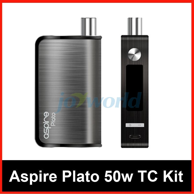 100% Aspire Plato TC Package 50W four.6ml Sub ohm atomizer Nautilus Coils with 18650 Battery vs Kanger Dripbox Nebox Starter Package YY (2)