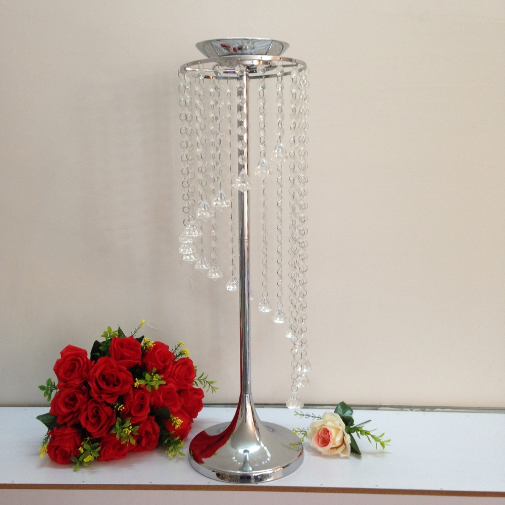 2016 new arrival wedding table decoration party table wreath stand holder candle metal crystal stand height