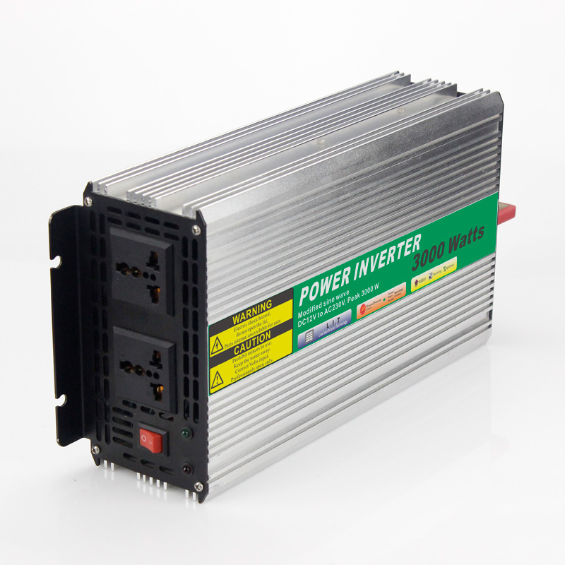 12VDC 3000W Modified Sine Wave AC 110V or 220V Car Power Inverter Converter Power Solar inverters Off grid tie system(China (Mainland))