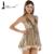HOT Free Shipping ,waist lace dress sexy nightclub Slim  Pompon Sleeveless vest party dress FT169