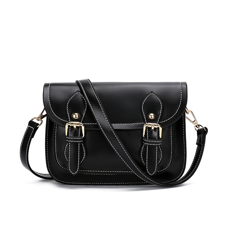 Fabra Women Messenger Bags Casual Motorcycle Shoulder Bag England Style Pu Leather Black Small Luxury Flap Handbags 22*9*17 CM(China (Mainland))