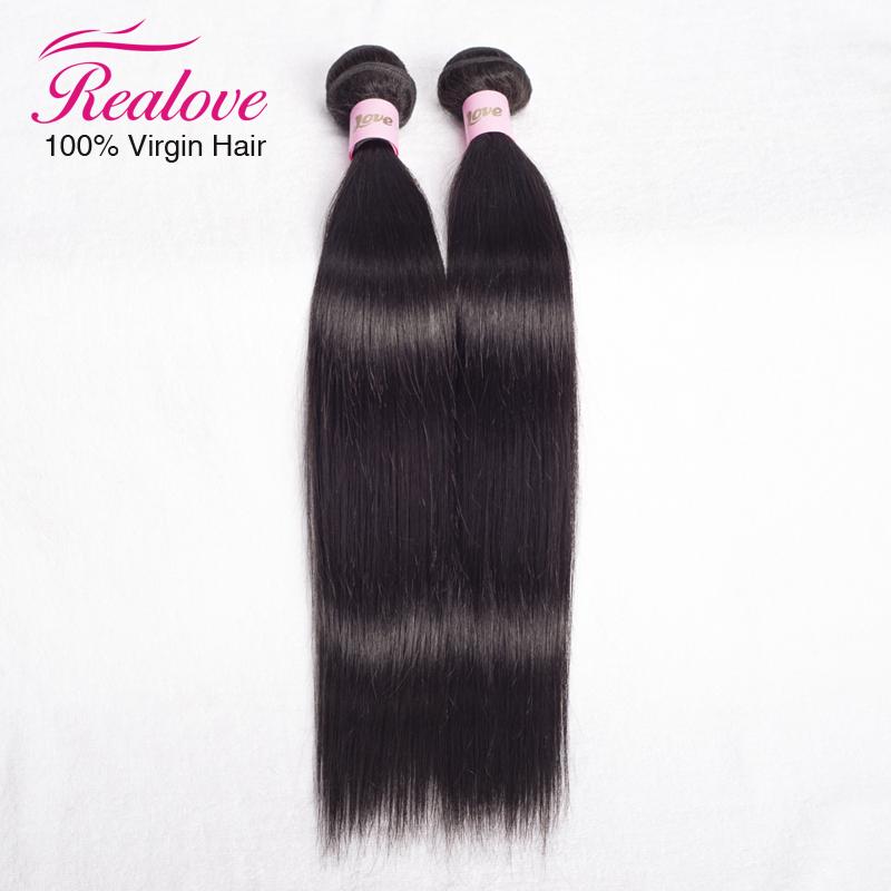 "Гаджет  Realove Hair Peruvian Hair Weaves Straight 2bundle free shipping 8""-30""  Peruvian Human Hair Extension Remy Nice Hair On Sale None Волосы и аксессуары"