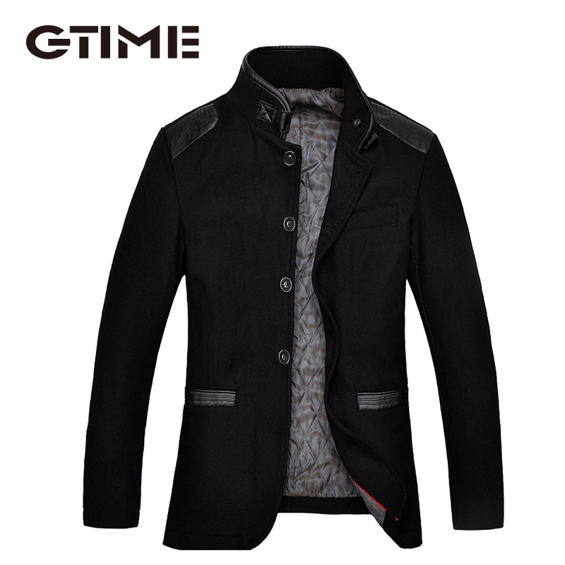 GTIME New Style Fashion Wool & Blends Outerwear Winter Men Coats Casual Long Thicken Jackets Warm Trench Clothes #TM147 - Ningbo Good times Trading Co. Ltd. store