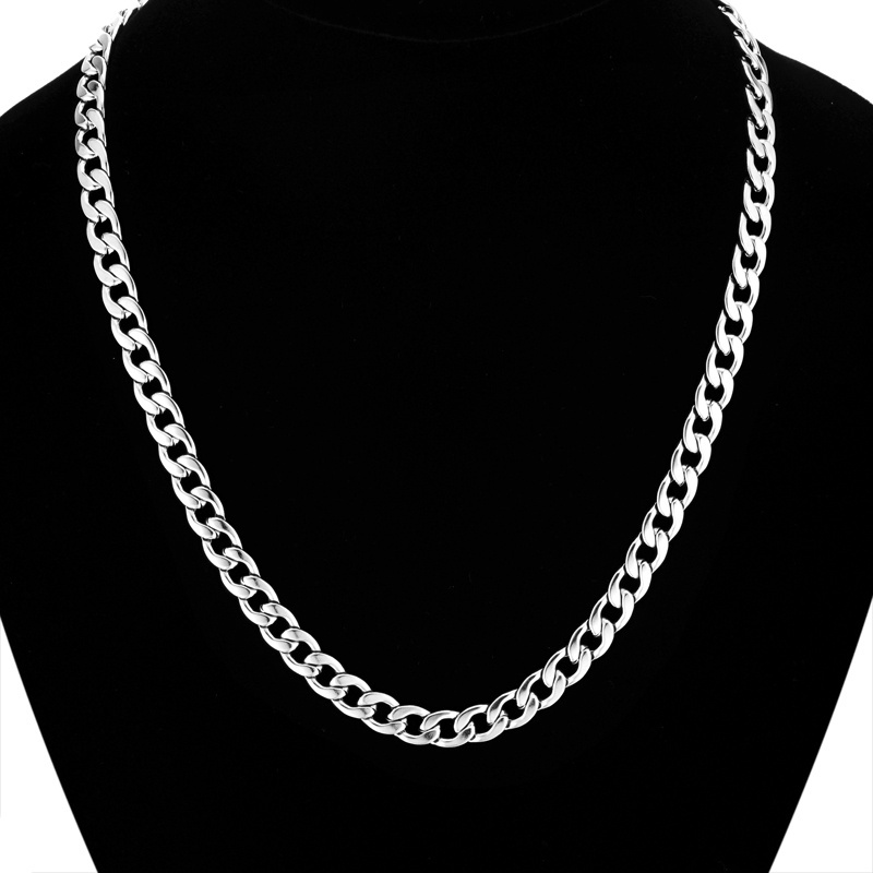 Top Fashion Cool Vintage Silver Plated Long Chain Necklace Wholesale Men Jewelry,New Candy Male Silver Necklace Collier Gift(China (Mainland))
