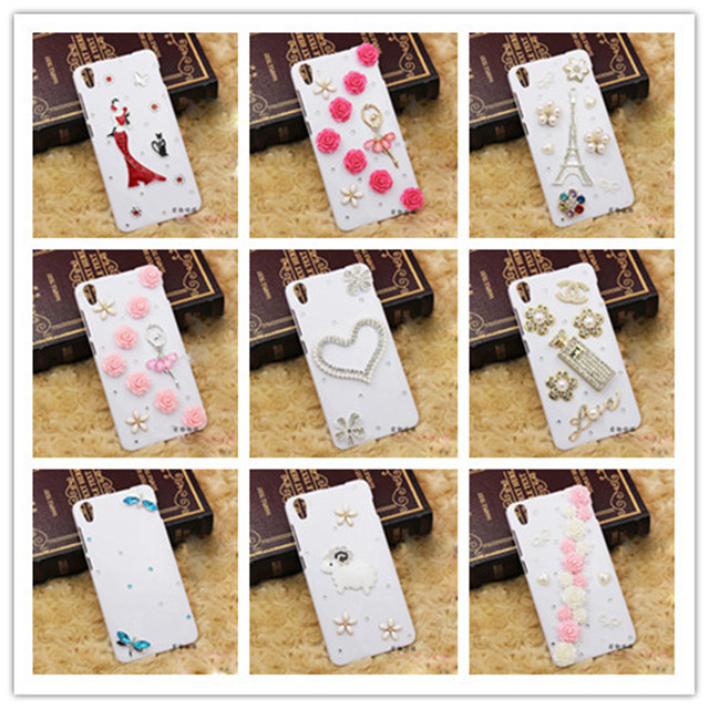 New 2015 Luxury Rhinestone Case Cover for Lenovo S850T S850 Case Bling Diamond Crystal Hard Back Protective Cover(China (Mainland))