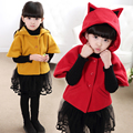 2016 Fox Jacket for Girls Outerwear Autumn Winter Girls Jackets and Coats Toddler Kids Jackets Coats