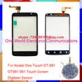Original Quality For Alcatel One Touch OT 991 OT991 991 Touch Screen Digitizer Sensor Pancel Free